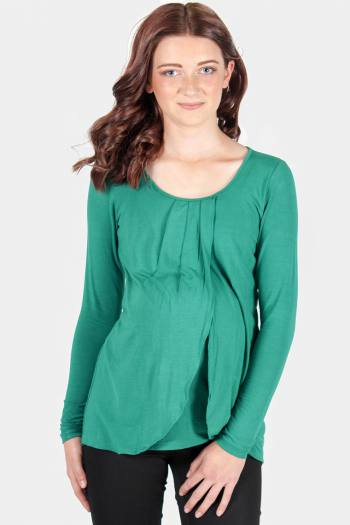 Maternity & Nursing Top in Green