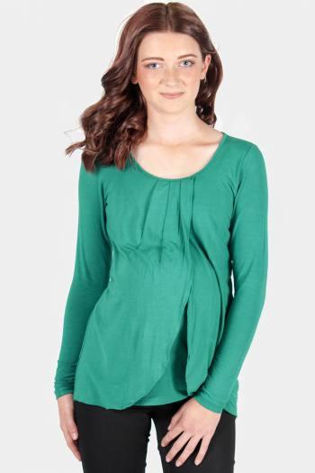 Maternity & Nursing Top in Green