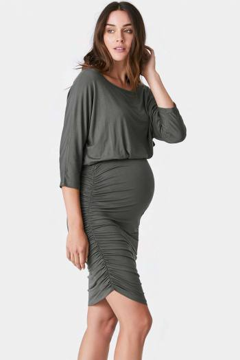 Aspen Maternity Rouched Dress in Arm