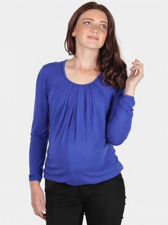 Kate Maternity & Nursing Top in Periwinkle