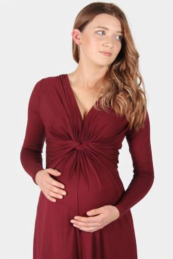 Trinity Knot Front Maternity Dress