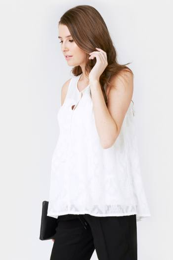 Aztec Lace Maternity & Nursing Top