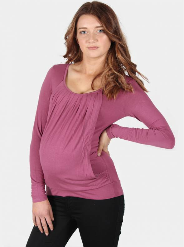 River Maternity & Nursing Top in Orchid