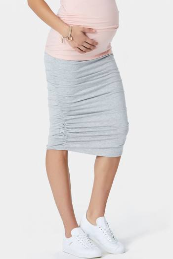 Maternity Skirt with Side Rouching