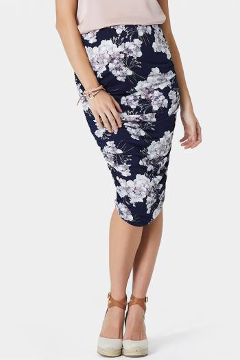 Maternity Gather Skirt in Print