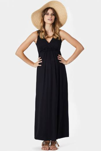 Maxi Maternity Dress in Black