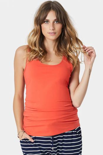 Maternity Sleeveless Tee in Tangerine