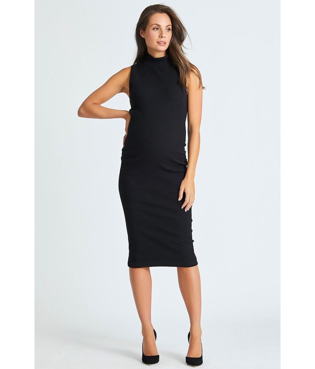 Audrey maternity rib dress 3 bears stylish black cotton stretch rib maternity bodycon dress ombrellifo Choice Image
