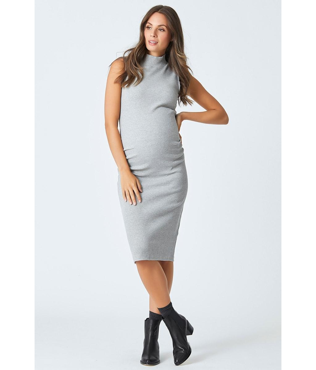 Audrey maternity rib dress 3 bears stylish grey cotton stretch rib maternity bodycon dress ombrellifo Choice Image