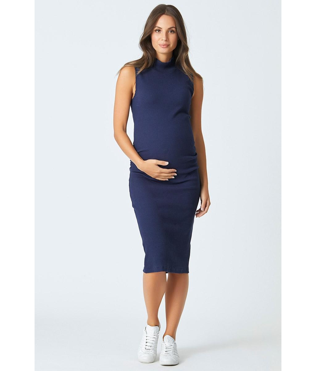 Audrey maternity rib dress 3 bears stylish navy cotton stretch rib maternity bodycon dress ombrellifo Choice Image
