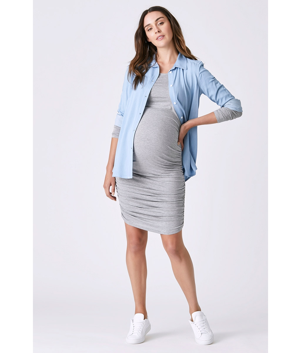 Bailey gather maternity dress 3 bears 3bears long sleeve bailey gather bodycon best maternity ombrellifo Image collections