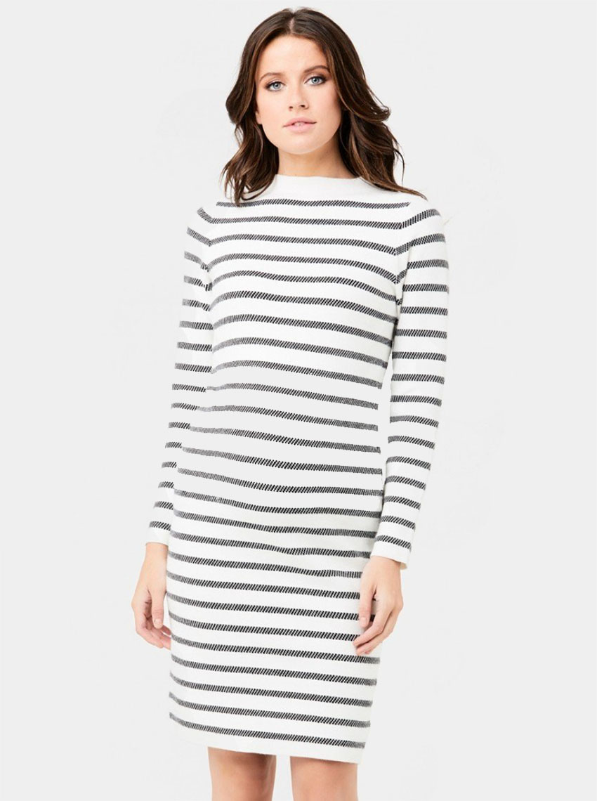 4b79e4d90a Grid Knit Maternity Tunic Dress